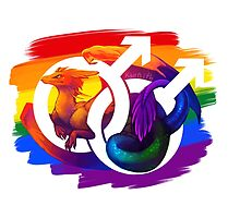 Gay Pride Dragon by kaenith
