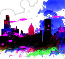 Watercolor art print of the skyline of Liverpool Sticker