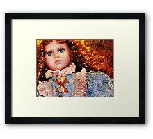 Doll in Blue Framed Print