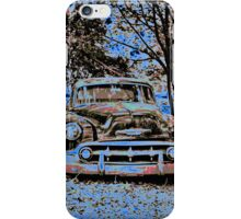 Vintage Decay in Red, White and Blue iPhone Case/Skin