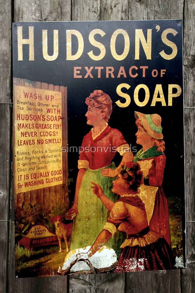 Hudson's Soap Vintage Poster Print by simpsonvisuals