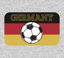 German Flag with Football One Piece - Short Sleeve