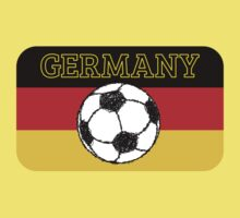 German Flag with Football Kids Tee