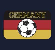 German Flag with Football Kids Tee