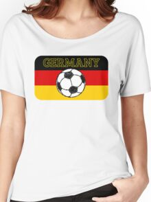 German Flag with Football Women's Relaxed Fit T-Shirt