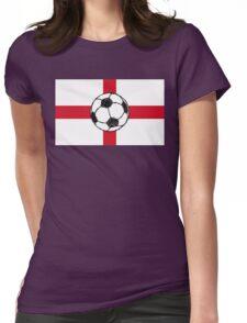 England Flag | Football Ball Womens Fitted T-Shirt