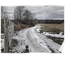Country Lane in Ohio Poster
