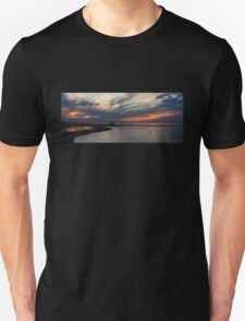 Sunset and the Kayak (Panorama) Unisex T-Shirt