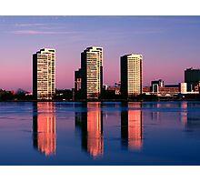 Detroit City Skyline 1 Photographic Print