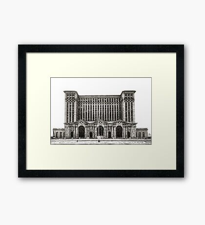Michigan Central Depot Framed Print