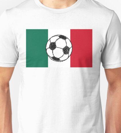 Flag of Mexico   Soccer ball Unisex T-Shirt