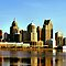 Detroit City Skyline 2 by Barry W  King