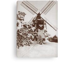 Winter Windmill Canvas Print