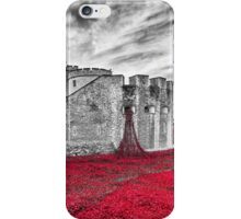 Poppies at The Tower Of London iPhone Case/Skin