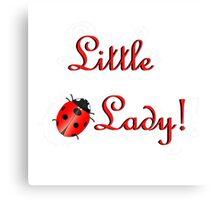 Ladybug with Text Canvas Print