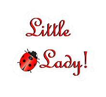 Ladybug with Text Photographic Print