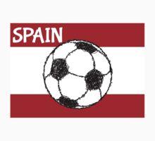 Football Sketch, Spain One Piece - Short Sleeve