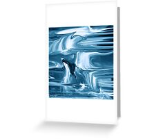 Ocean- Abstract  Art + Products Design  Greeting Card