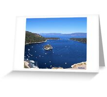 Blue Emerald Bay Greeting Card