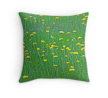Yellow Sprinkles Throw Pillow