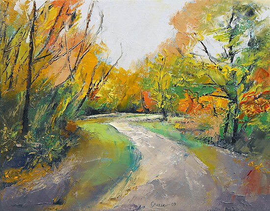 Autumn Woodland Path by Michael Creese