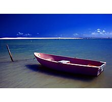 The Pink Boat Photographic Print