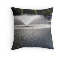 Fountains at East Perth. Throw Pillow