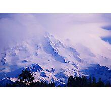 Lavender Rainier Photographic Print