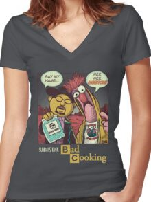 Bad Cooking Women's Fitted V-Neck T-Shirt