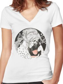 Tea time for the Dead Women's Fitted V-Neck T-Shirt