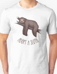 adopt a sloth Unisex T-Shirt