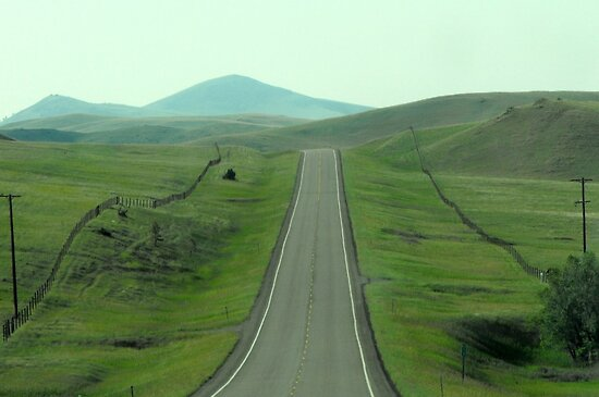 On the Highway in Montana by Susan Russell