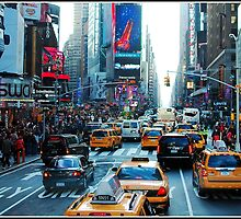 Times Square in Colour by Melinda  Ison - Poor