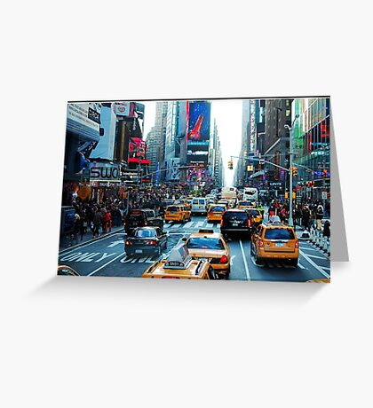 Times Square in Colour Greeting Card