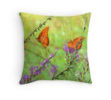 Magical Butterflies  Throw Pillow