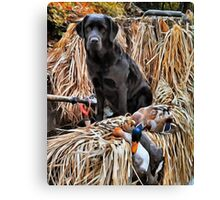 Hunting Lab Canvas Print