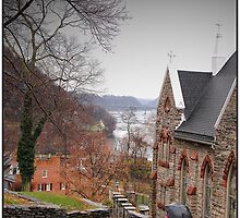 Rainy Day in Harpers Ferry by Melinda  Ison - Poor