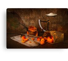 Making Apricot Jam Canvas Print