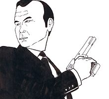 Gunman in Black Jacket and Tie by beniaminus