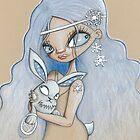 snowshoe hare by: kate lightfoot  www.scarlettcat.blogsp by artists4wildlfe