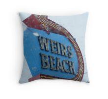 Weir's Beach Throw Pillow