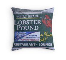 Weirs Beach Lobster Pound Throw Pillow