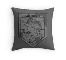 Wall Mario Throw Pillow