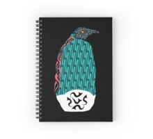 Abstract Penguin Spiral Notebook