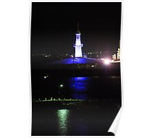 Cunningham Pier Geelong at night Poster