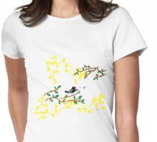Singing Blackbird Womens Fitted T-Shirt