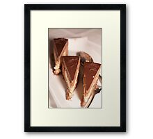 Chocolate cakes Framed Print