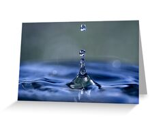 A Beautiful Blue Precious Resource Greeting Card