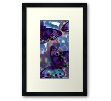 Abstracted Butterflies in Fauvist Colors #7 Framed Print