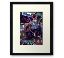 Abstracted Butterflies in Fauvist Colors #8 Framed Print